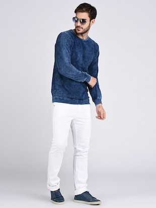 blue cotton sweatshirt - 15614773 - Standard Image - 4