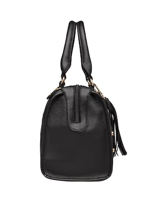 black leatherette (pu) regular handbag - 15615502 - Standard Image - 4