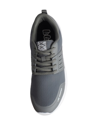 grey Mesh sport shoes - 15615748 - Standard Image - 4