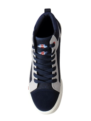 blue Canvas lace up sneakers - 15616078 - Standard Image - 4