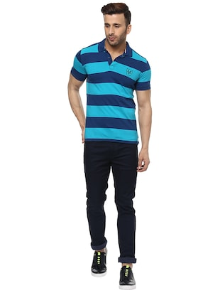 blue cotton polo t-shirt - 15619673 - Standard Image - 4