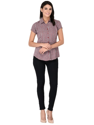 short sleeve shepherd checks shirt - 15621188 - Standard Image - 4