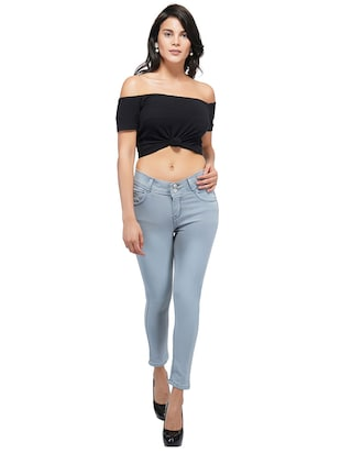 mid rise ankle length jeans - 15621484 - Standard Image - 4