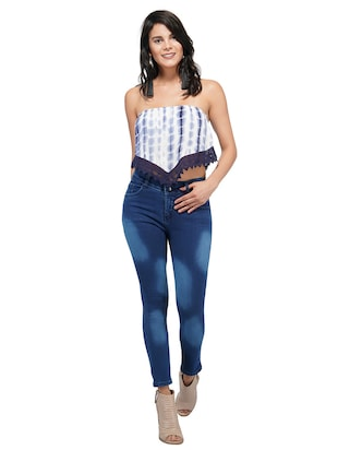 mid rise stone washed jeans - 15621496 - Standard Image - 4