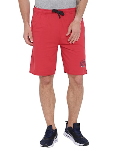 red cotton shorts - 15621601 - Standard Image - 1