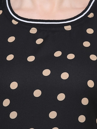 short sleeved polka dots top - 15621614 - Standard Image - 4