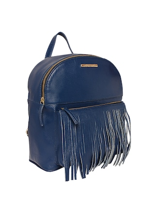 blue leatherette (pu) fashion backpack - 15625758 - Standard Image - 4