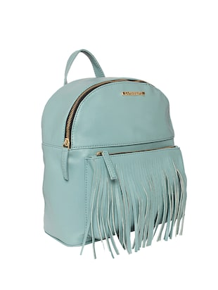 blue leatherette (pu) fashion backpack - 15625759 - Standard Image - 4