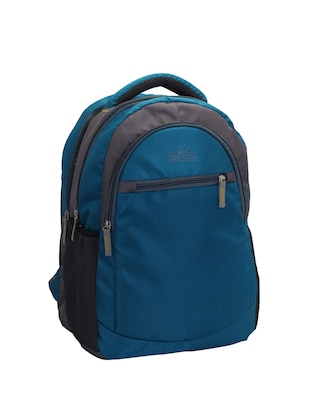blue cotton polyester blend regular backpack - 15625764 - Standard Image - 4