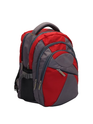 red cotton polyester blend regular backpack - 15625773 - Standard Image - 4