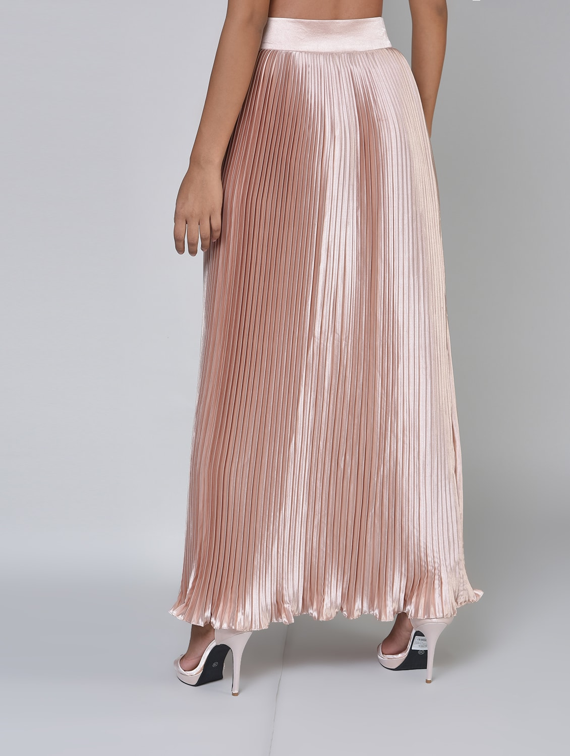 9463c0658197 Buy Metallic Accordion Pleat Skirt for Women from Primrose for ₹805 at 68%  off | 2019 Limeroad.com