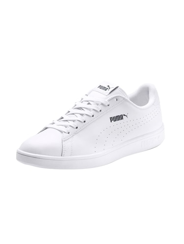 white Leather lace up sneakers - 15642488 - Standard Image - 1