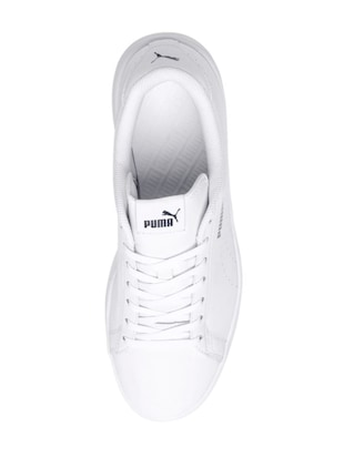 white Leather lace up sneakers - 15642488 - Standard Image - 4
