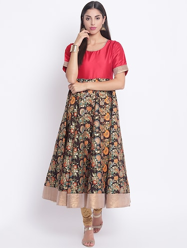280958b5f37 Buy Red Cotton Printed Anarkali Kurta for Women from Nayo for ₹1005 at 47%  off