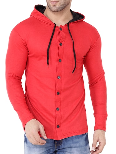 red cotton t-shirt - 15651733 - Standard Image - 1