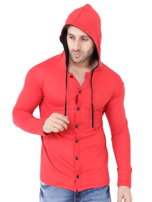 red cotton t-shirt - 15651733 - Standard Image - 4