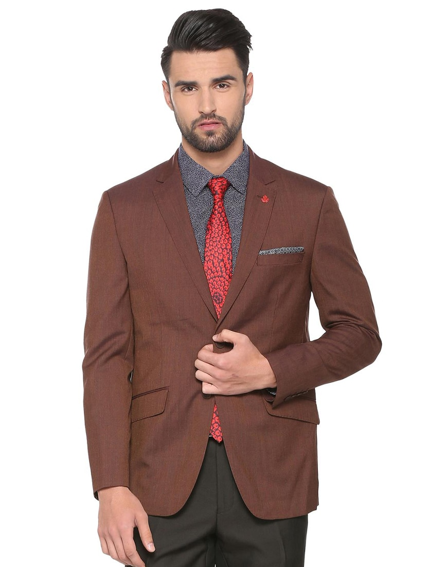 77809eaf0a7ea0 Buy Brown Polyester Formal Blazer for Men from Peter England for ₹4719 at  41% off | 2019 Limeroad.com