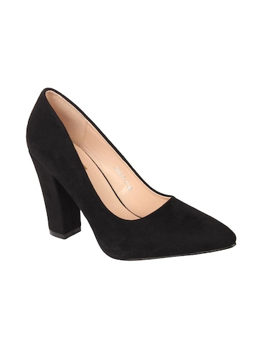 black suede slip on pumps - 15654436 - Standard Image - 1