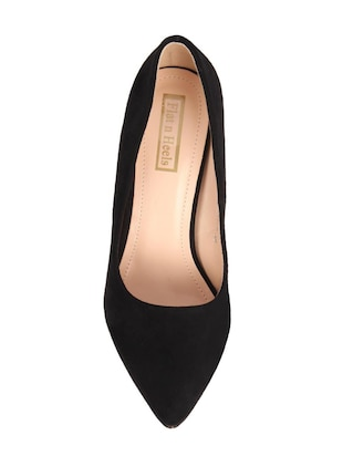 black suede slip on pumps - 15654436 - Standard Image - 4