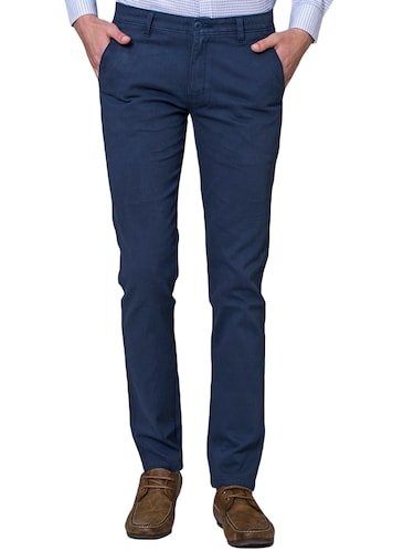 blue cotton chinos - 15655154 - Standard Image - 1
