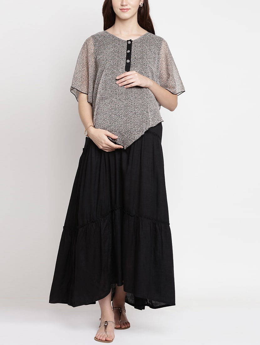0de336087cc4d Buy Cape Detail Maternity Dress for Women from Mine4nine for ₹1030 at 60%  off | 2019 Limeroad.com
