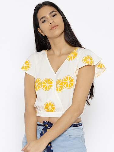 3d8b31fe3c9 Buy White Crepe Crop Top for Women from Ahalyaa for ₹454 at 58% off ...