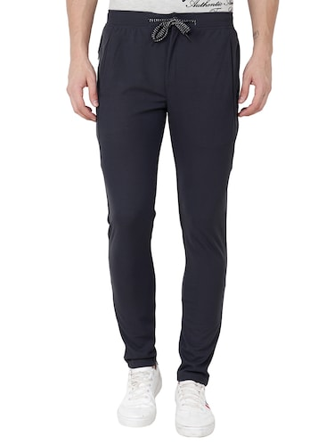 grey cotton  full length track pant - 15674033 - Standard Image - 1