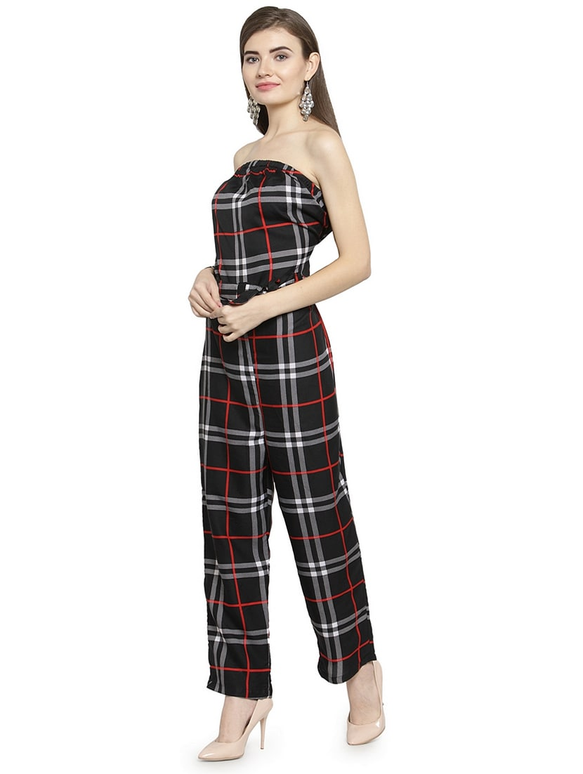9f3864625f894 Buy Checkered Belted Tube Jumpsuit for Women from Ed for ₹960 at 52% off