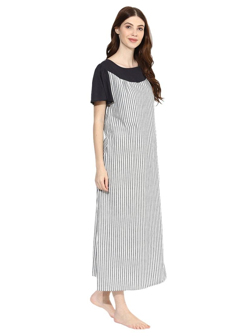 2303f75fb3 Short Sleeved Striped Nighty