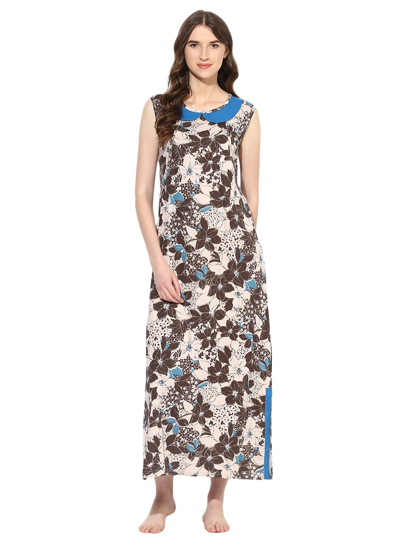 Buy Collared Floral Maternity Wear Nighty by 9teenagain - Online shopping  for Maternity Wear in India  0daa8e5a6