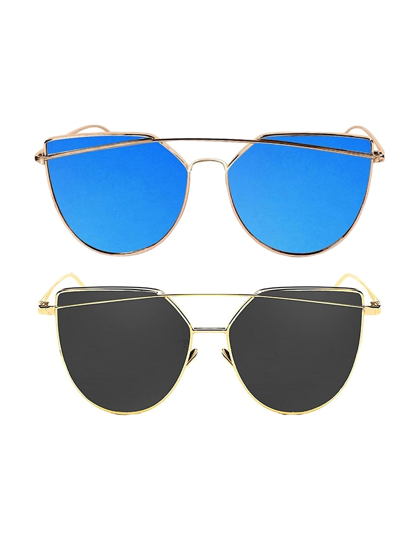 95dae1ce93a Buy Set Of 2 Uv Protected Aviator Sunglasses by Eagle - Online shopping for Men  Sunglasses in India