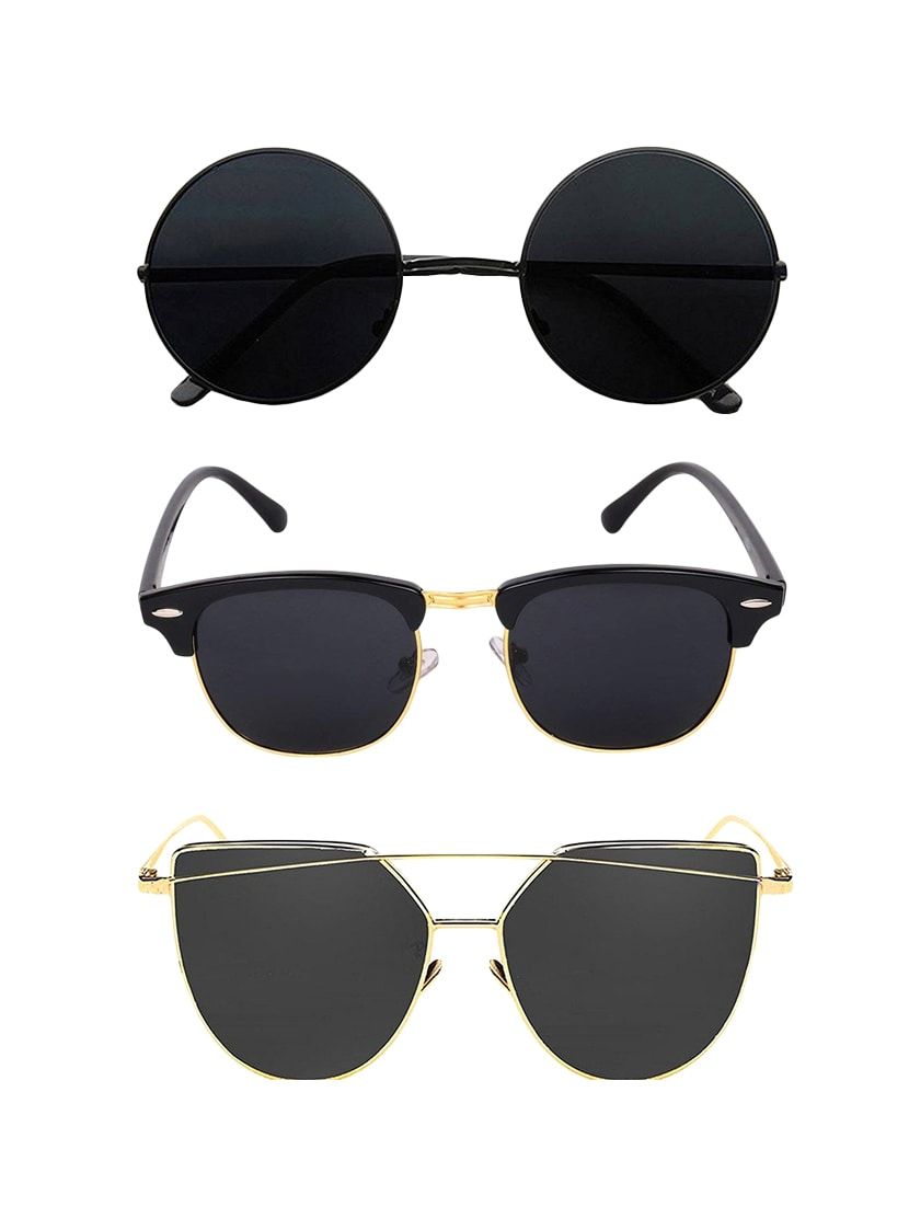 737e3537957 Buy Set Of 3 Aviator Sunglasses by Eagle - Online shopping for Men  Sunglasses in India
