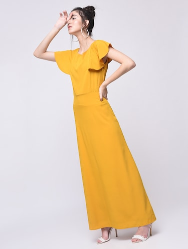 flutter sleeved maxi dress - 15692005 - Standard Image - 1