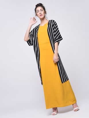 flutter sleeved maxi dress - 15692005 - Standard Image - 4