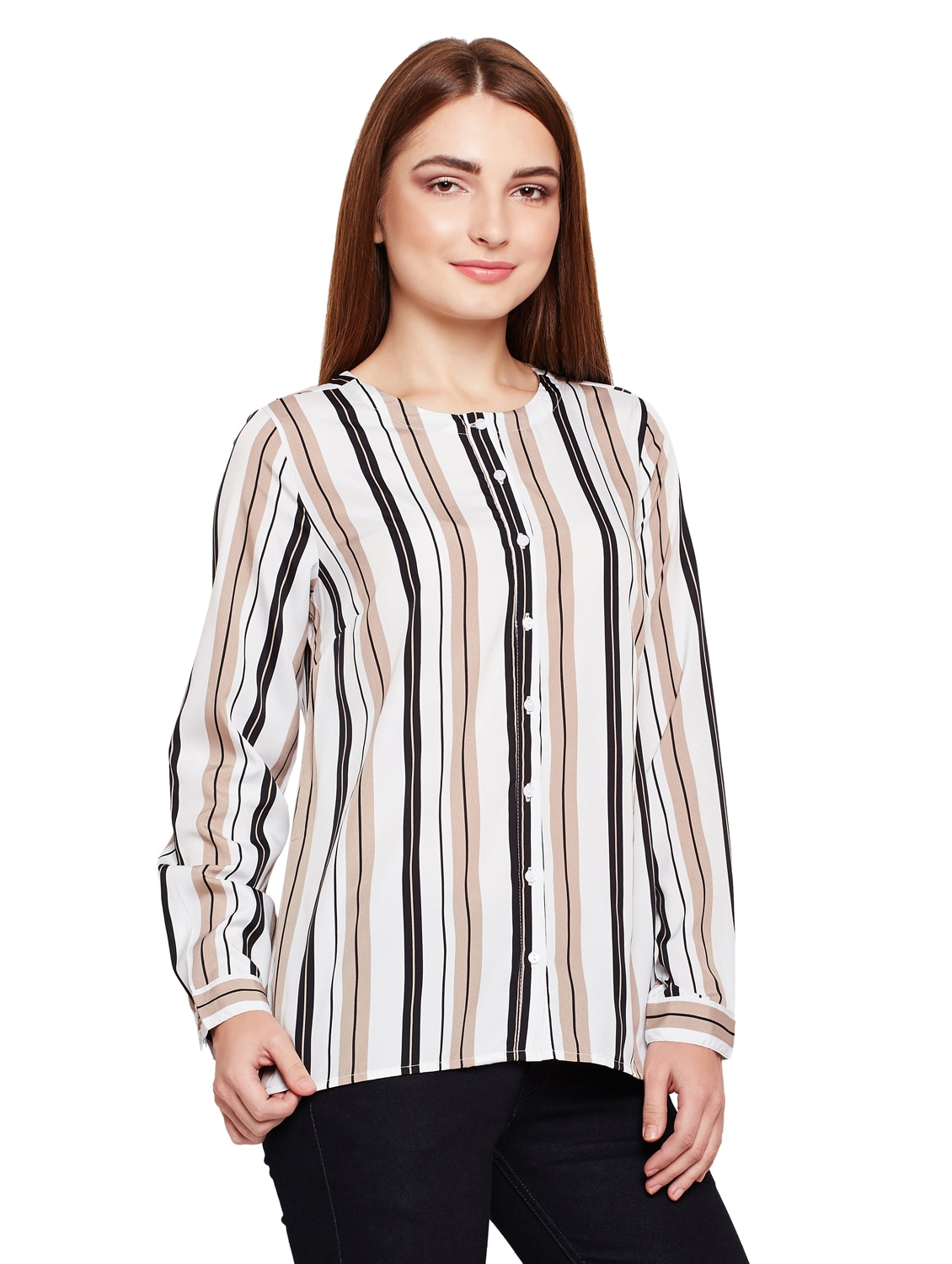 4d86b0c6f Buy Button Up Striped Tunic for Women from Oxolloxo for ₹479 at 52% off |  2019 Limeroad.com