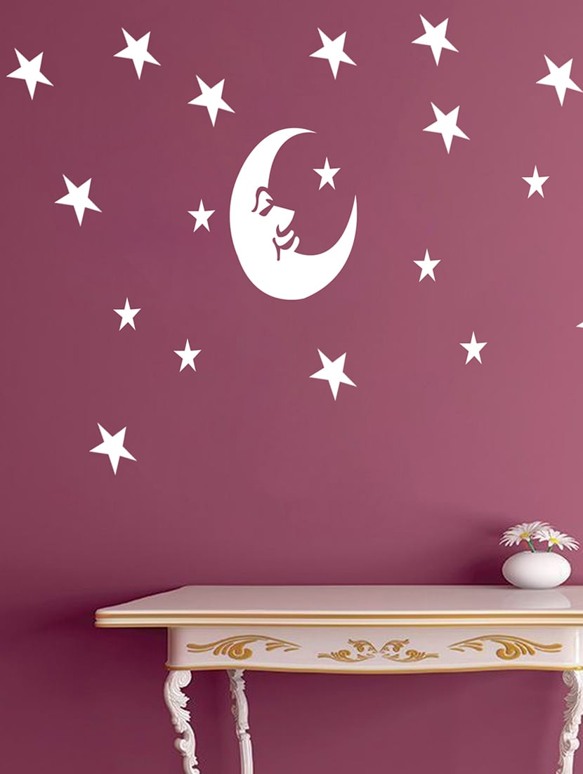 Buy Kayra Decor Stars And The Moon Reusable Diy Wall Stencil Painting For Home Pvc 16 Inch X 24 Unisex From INR448 At 44