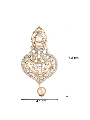 gold plated drop earring - 15706213 - Standard Image - 4