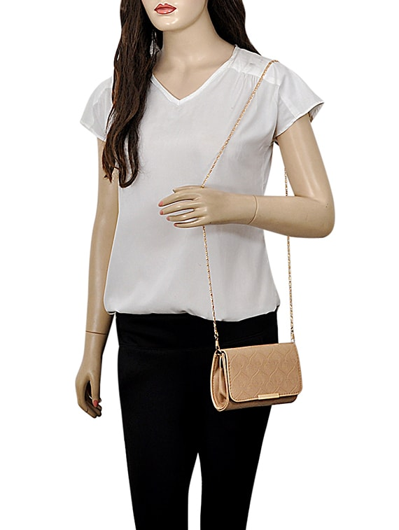 a09e092703 Buy Beige Leatherette (pu) Regular Sling Bag for Women from Mark   Keith  for ₹858 at 57% off