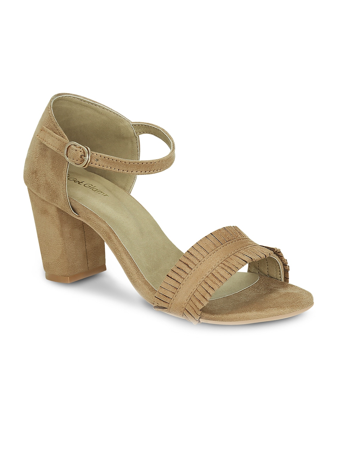 5d68715ce4dd5 Buy Beige Faux Leather Ankle Strap Sandals for Women from Get Glamr for  ₹1000 at 60% off