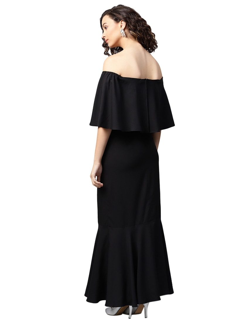 fb09a2e96313 Buy Off Shoulder Overlay Maxi Dress for Women from Femella for ₹1714 at 22%  off