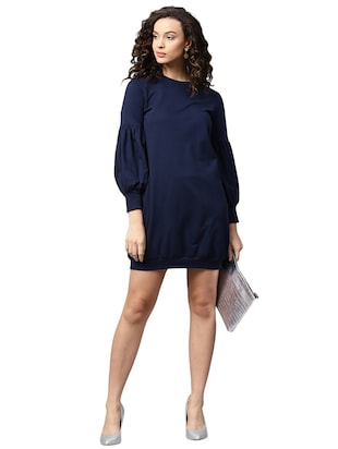 lantern sleeve sweatshirt dress - 15716875 - Standard Image - 4