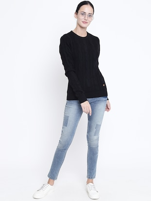 ribbed edge cable knit pullover - 15721734 - Standard Image - 4