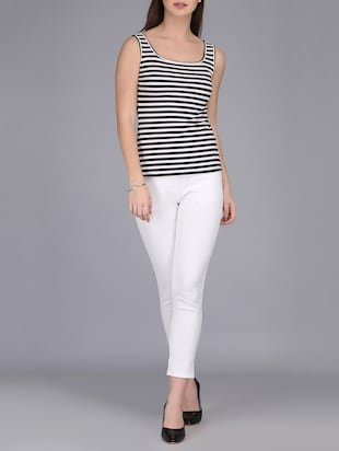 monochrome striped tank top - 15726291 - Standard Image - 4