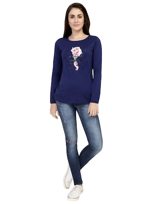graphic print long sleeved tee - 15726860 - Standard Image - 4