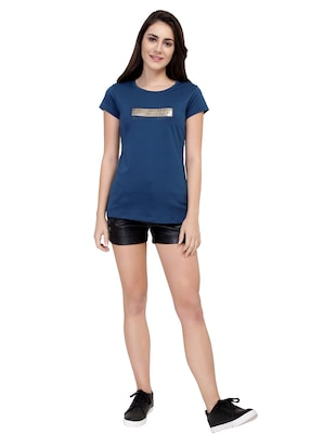 letter patch short sleeved tee - 15726900 - Standard Image - 4
