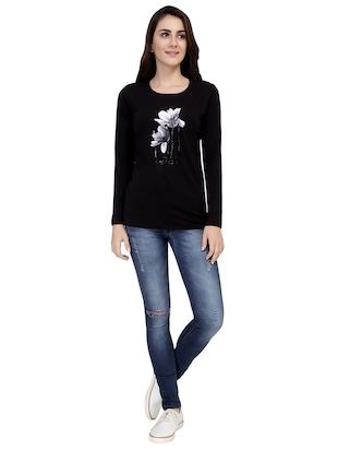 Graphic Print Long Sleeved Tee - 15726929 - Standard Image - 4