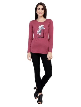 Graphic Print Long Sleeved Tee - 15726933 - Standard Image - 4