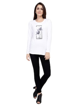 Graphic Print Long Sleeved Tee - 15726936 - Standard Image - 4