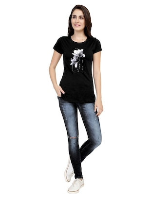 Graphic Print Short Sleeved Tee - 15726938 - Standard Image - 4