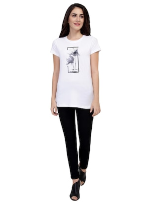 Graphic Print Short Sleeved Tee - 15726945 - Standard Image - 4